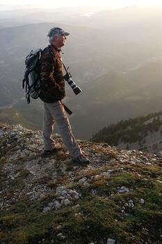 L'auteur au mont Ventoux